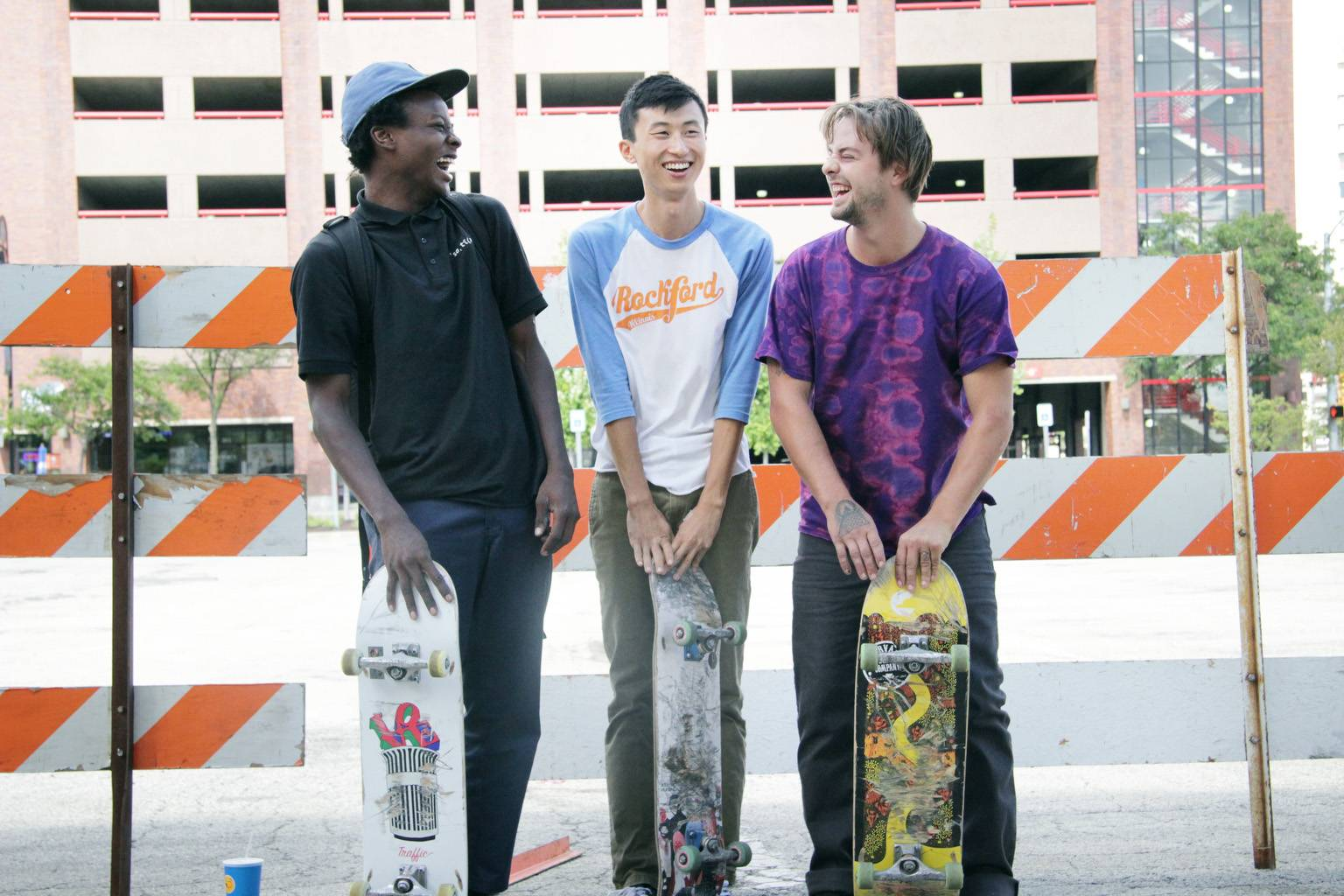 "Bing Liu, center, shot the documentary ""Minding the Gap"" in his hometown of Rockford."