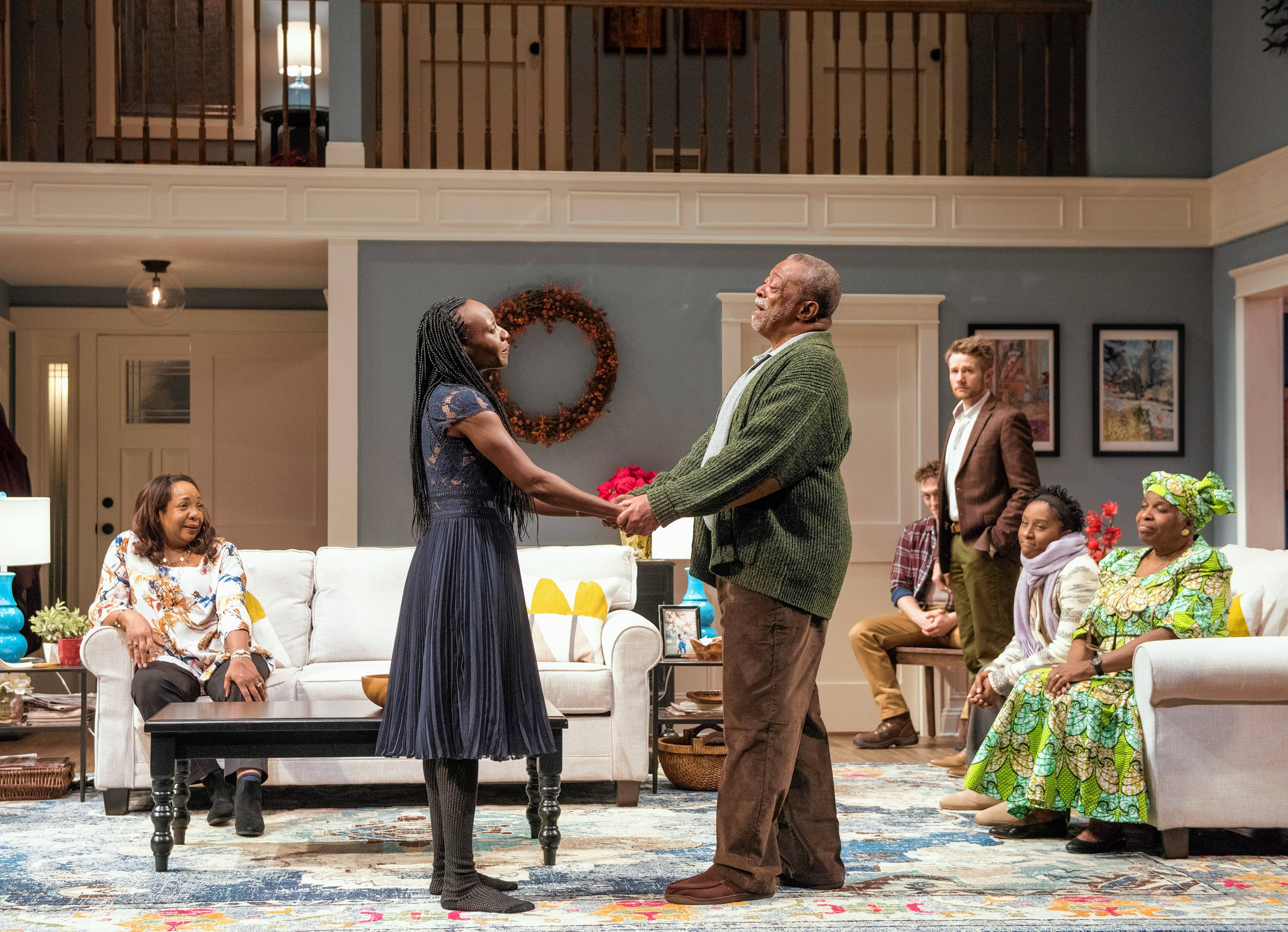 "A long-held family secret threatens to disrupt a wedding in ""Familiar,"" a family dramedy by Danai Gurira in its regional premiere at Steppenwolf Theatre."