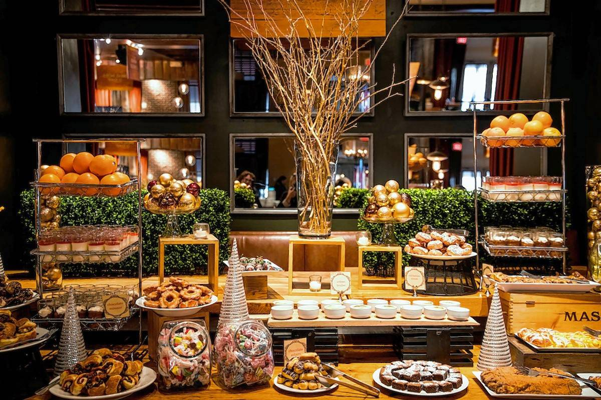 Saranello's offers quite a spread during its Santa brunch.