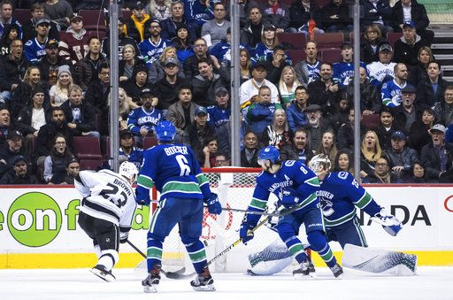 Brown S Goal In Ot Gives Kings 2 1 Win Over Canucks