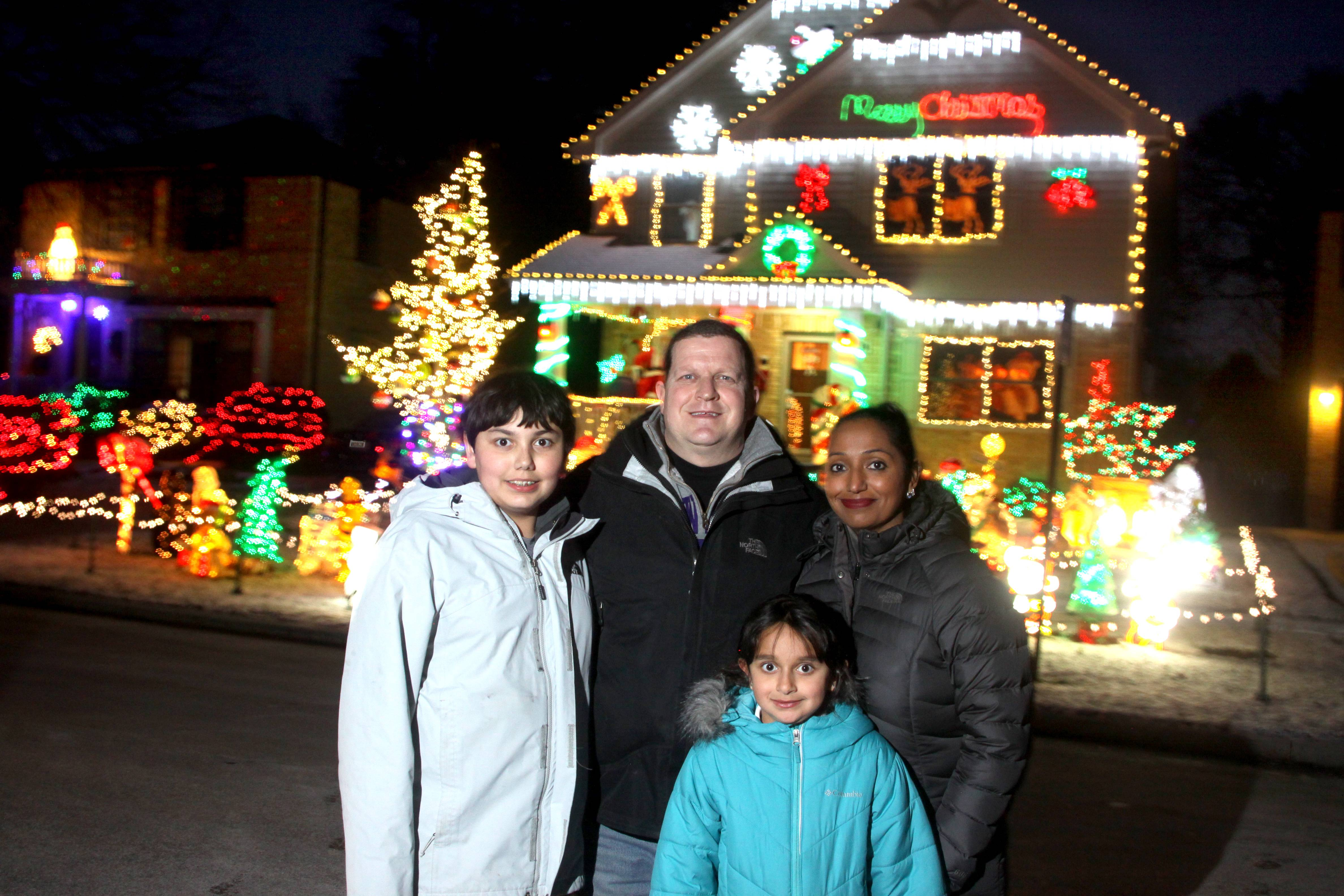 Matt FioRito, his wife, Rachna, and their children Maya and Gio won the Daily Herald's 2017 holiday lights contest for their display at 111 S. I Oka Ave. in Mount Prospect