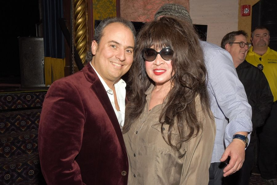 Ronnie Spector and the Ronettes will perform a holiday show on Sunday, Dec. 9, at the Arcada Theatre in St. Charles. Spector, right, is shown here with Arcada owner Ron Onesti at a previous performance.
