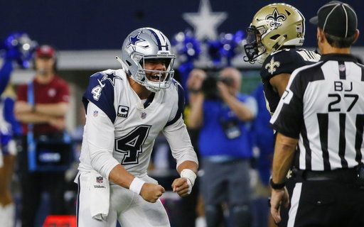 d7e52be6e Cowboys stifle Brees, end Saints' 10-game win streak, 13-10