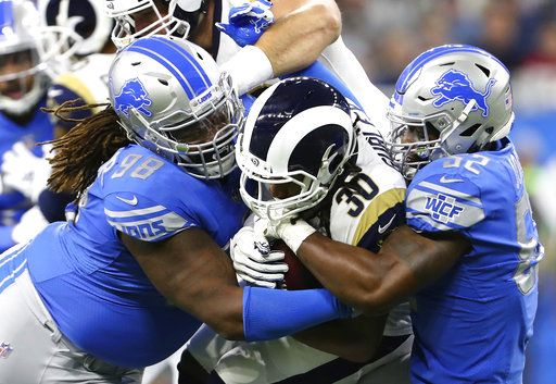 various colors b806e 2890d Todd Gurley-led Rams beat Lions 30-16, clinch NFC West title