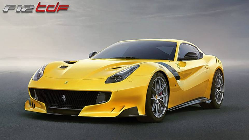 The one-of-a-kind SP3JC was built by Ferrari using its F12tdf, of which only 799 are being made by the Ferrari Styling Centre.