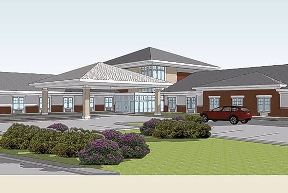 Rendering for Transitional Care of Lake County to be built on Route 45 east of Route 83 in Mundelein. A ceremonial groundbreaking is scheduled for Tuesday.