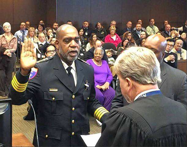 New Lake County Sheriff John Idleburg took part in swearing-in ceremonies Monday. He officially assumed office Saturday.