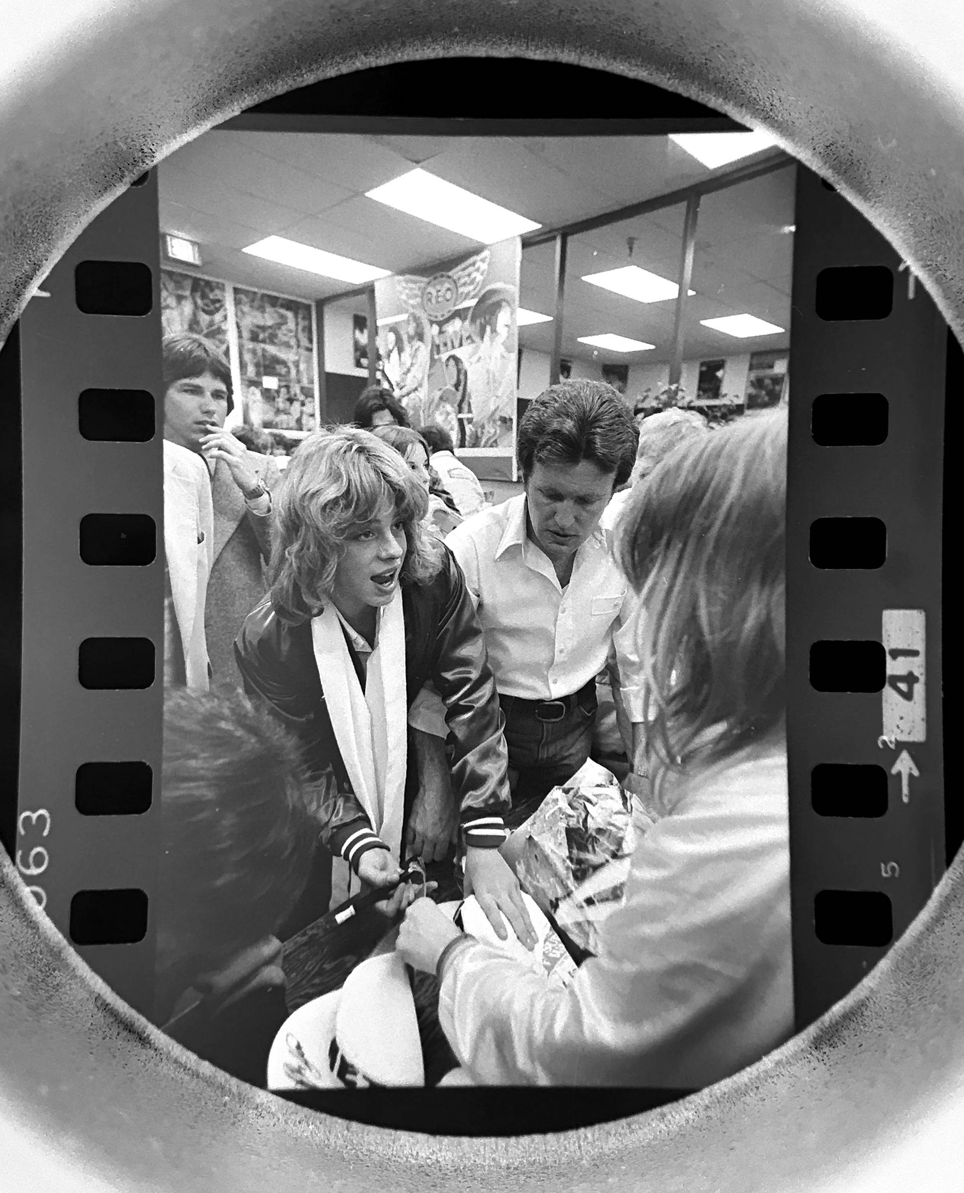 The Daily Herald archive, Assignment # 46,831, Barry Jarvinen photo: Teen heartthrob Leif Garrett met fans at Flipside Records in Hoffman Estates in April of 1978.