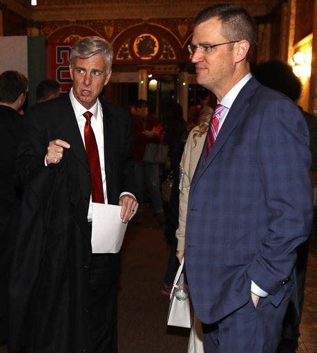 f255730cd Boston Red Sox CEO Sam Kennedy, right, and Dave Dombrowski, left, the