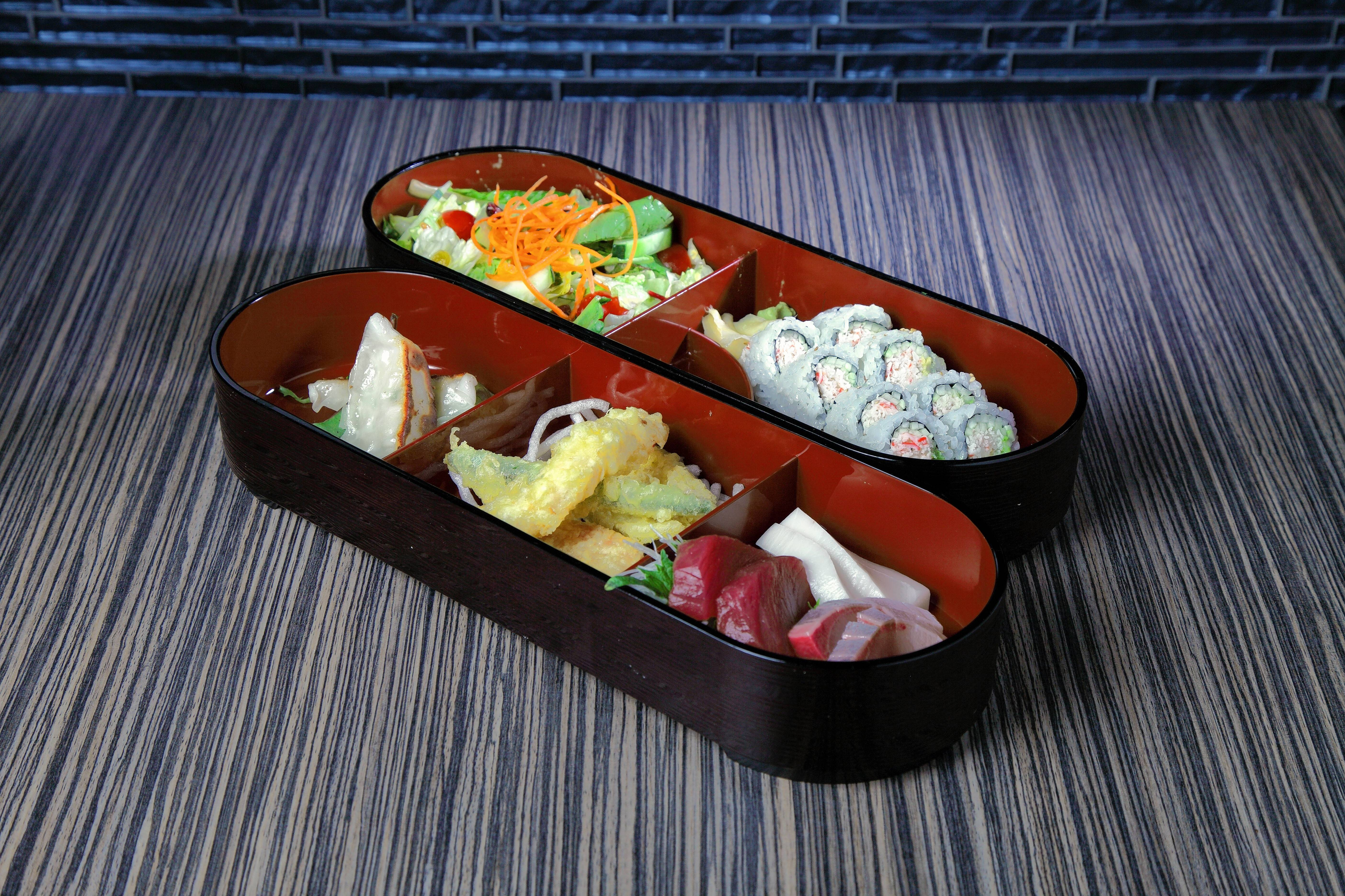 The bento boxes provide less expensive lunch options.