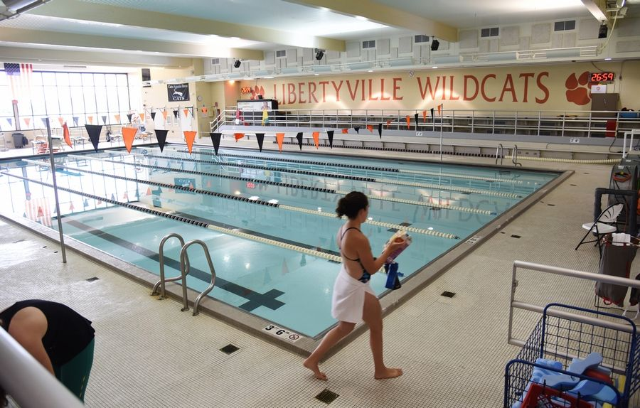 The current six-lane swimming pool at Libertyville High School will be used until the construction of a new eight-lane pool is finished this spring. Officials are considering converting the old pool into space for other athletic programs.