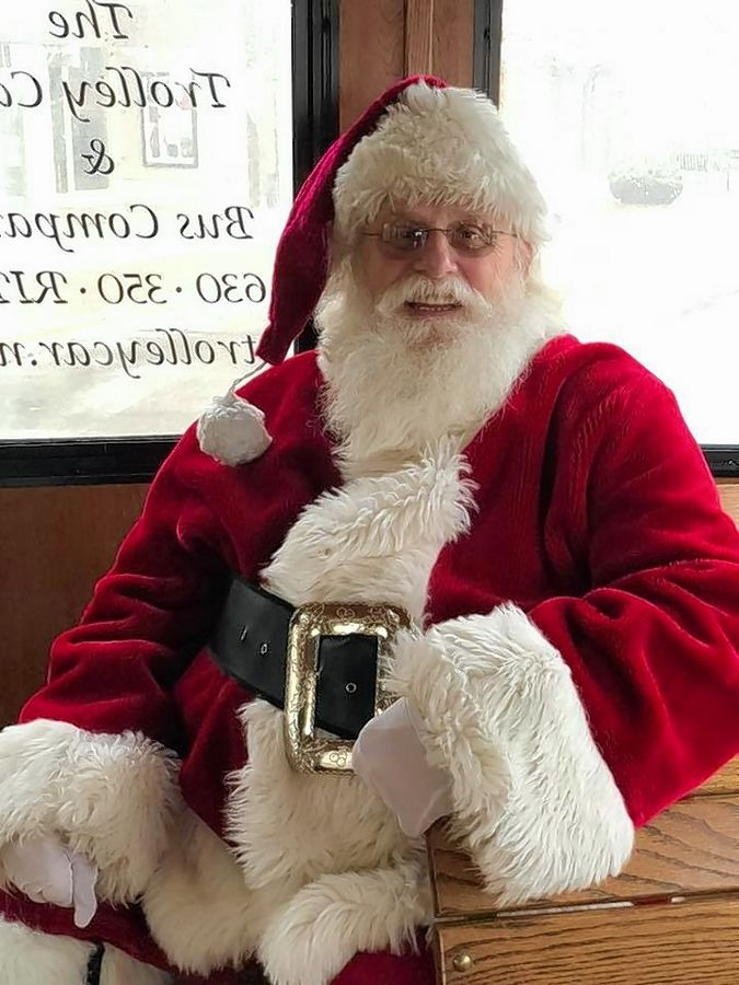 Santa Claus and the Santa Express trolley is running free shuttle rides throughout the Algonquin Commons every weekend through Dec. 16.