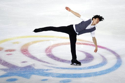 FILE - In this Friday, Nov. 23, 2018, file photo, Nathan Chen competes in the men's short program during the ISU figure skating France's Trophy, in Grenoble, France. U.S. figure skater Chen will be trying to defend his Grand Prix Final title in Vancouver, British Colombia, beginning Thursday, Dec. 6, 2018.