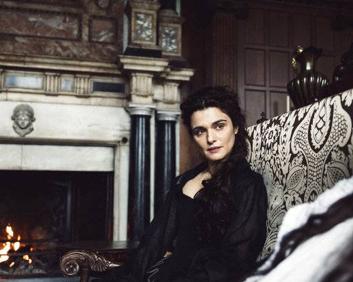 "This image released by Fox Searchlight shows Rachel Weisz in a scene from ""The Favourite."" On Thursday, Dec. 6, 2018, Weisz was nominated for a Golden Globe award for supporting actress in a motion picture for her role in the film. The 76th Golden Globe Awards will be held on Sunday, Jan. 6. (Yorgos Lanthimos/Fox Searchlight via AP)"