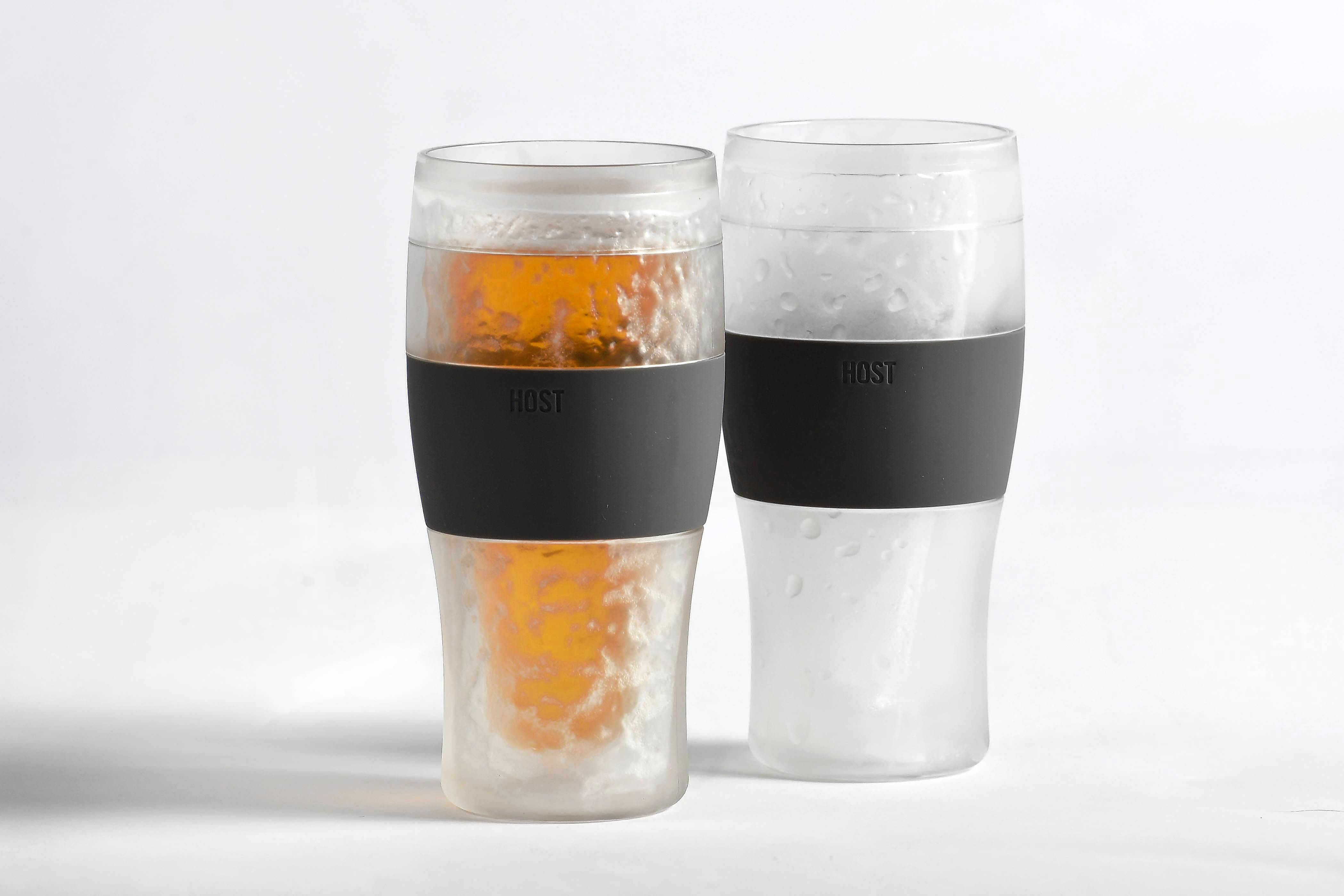 Host's Freeze cooling pint glasses, $18.50, amazon.com. MUST CREDIT: Photo for The Washington Post by Katherine Frey