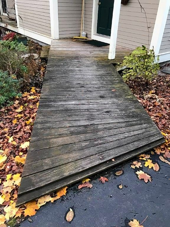 How to make ramp less slippery
