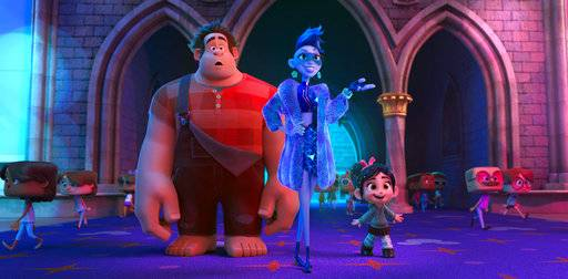 "Ralph, voiced by John C. Reilly, Yess, voiced by Taraji P. Henson, and Vanellope von Schweetz, voiced by Sarah Silverman, star in ""Ralph Breaks the Internet."""