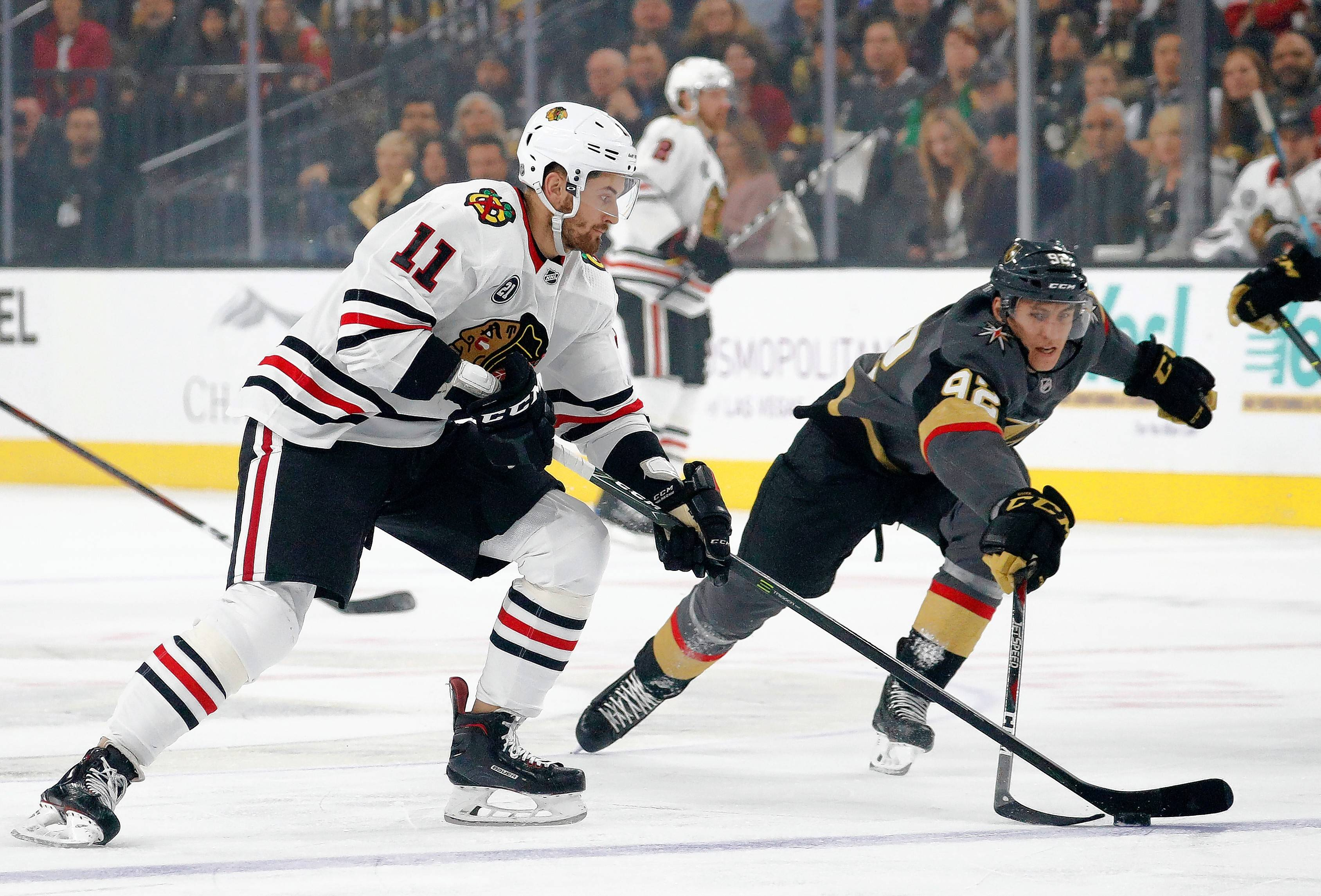 The Chicago Blackhawks made Brendan Perlini a healthy scratch against Montreal on Sunday. Perlini has struggled since being traded by Arizona as part of the Nick Schmaltz trade.
