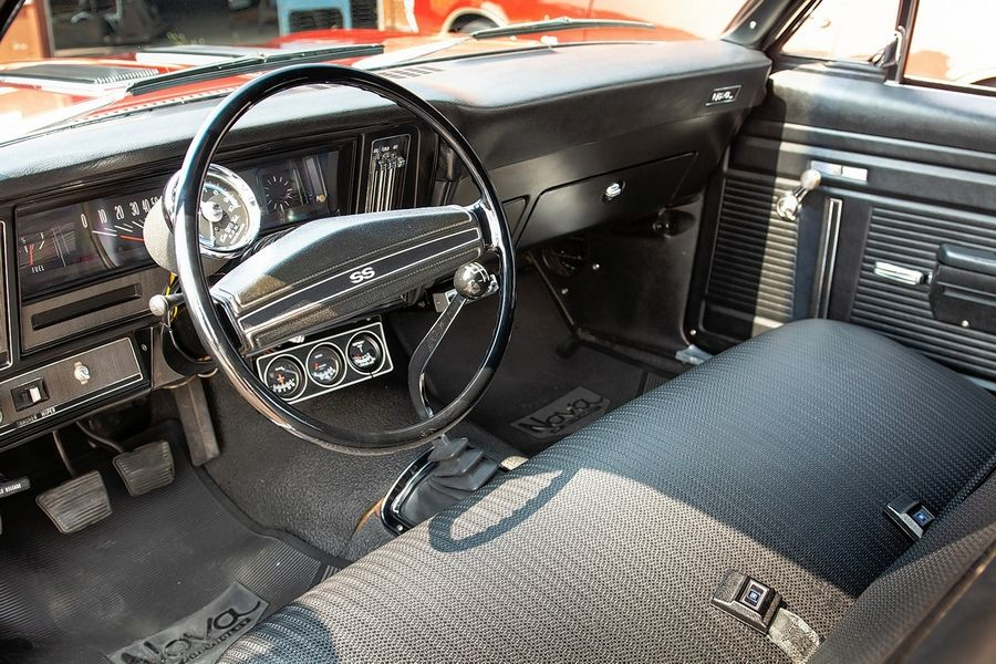 The interior is all original and Mark still has the car's original spare tire in the trunk. Even the brakes are original and have never been replaced.