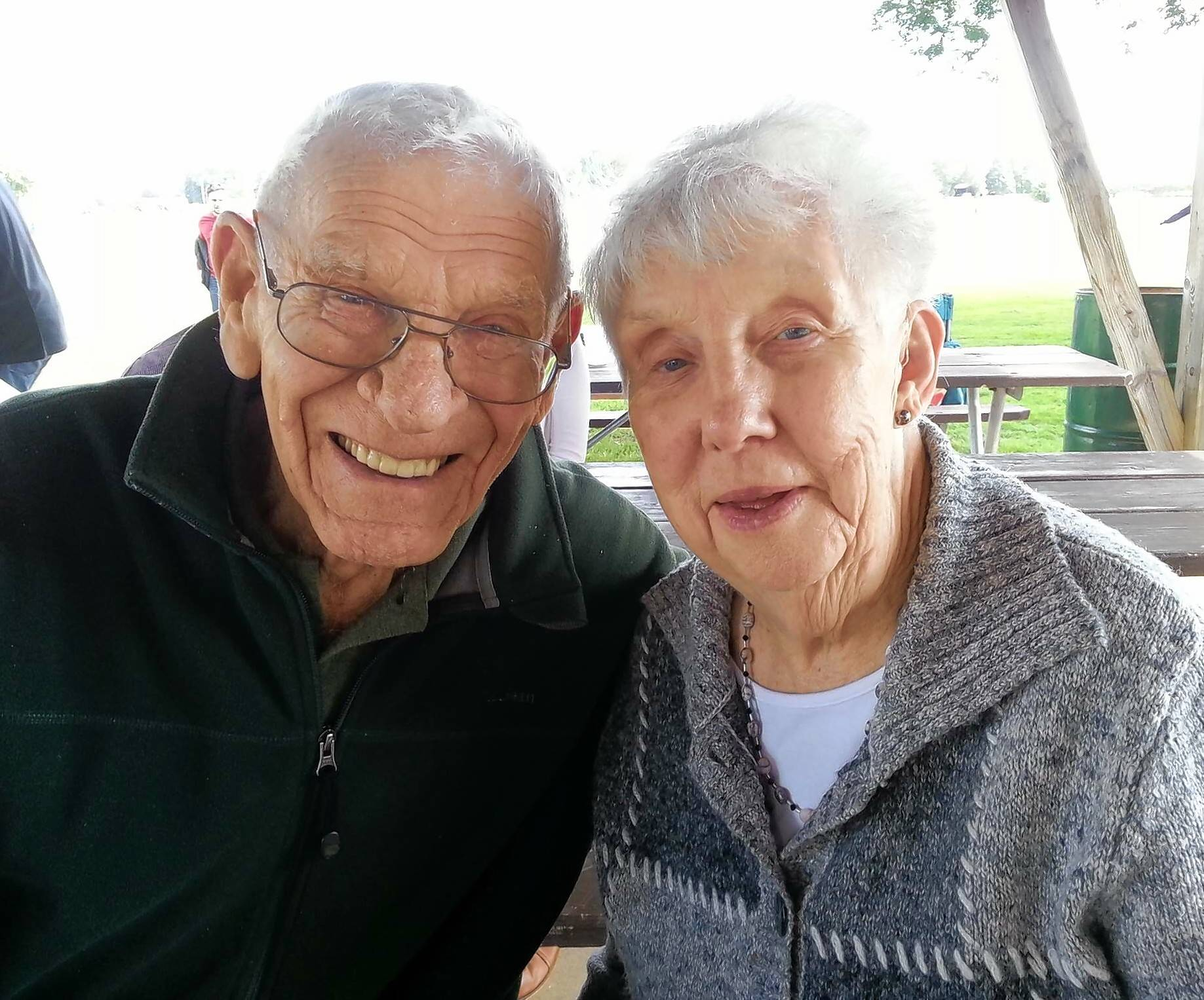 Paul Bergeson, an esteemed former athletic director at St. Charles High School, died Monday at age 91. He is pictured here with Ethyl, his wife of 70 years.