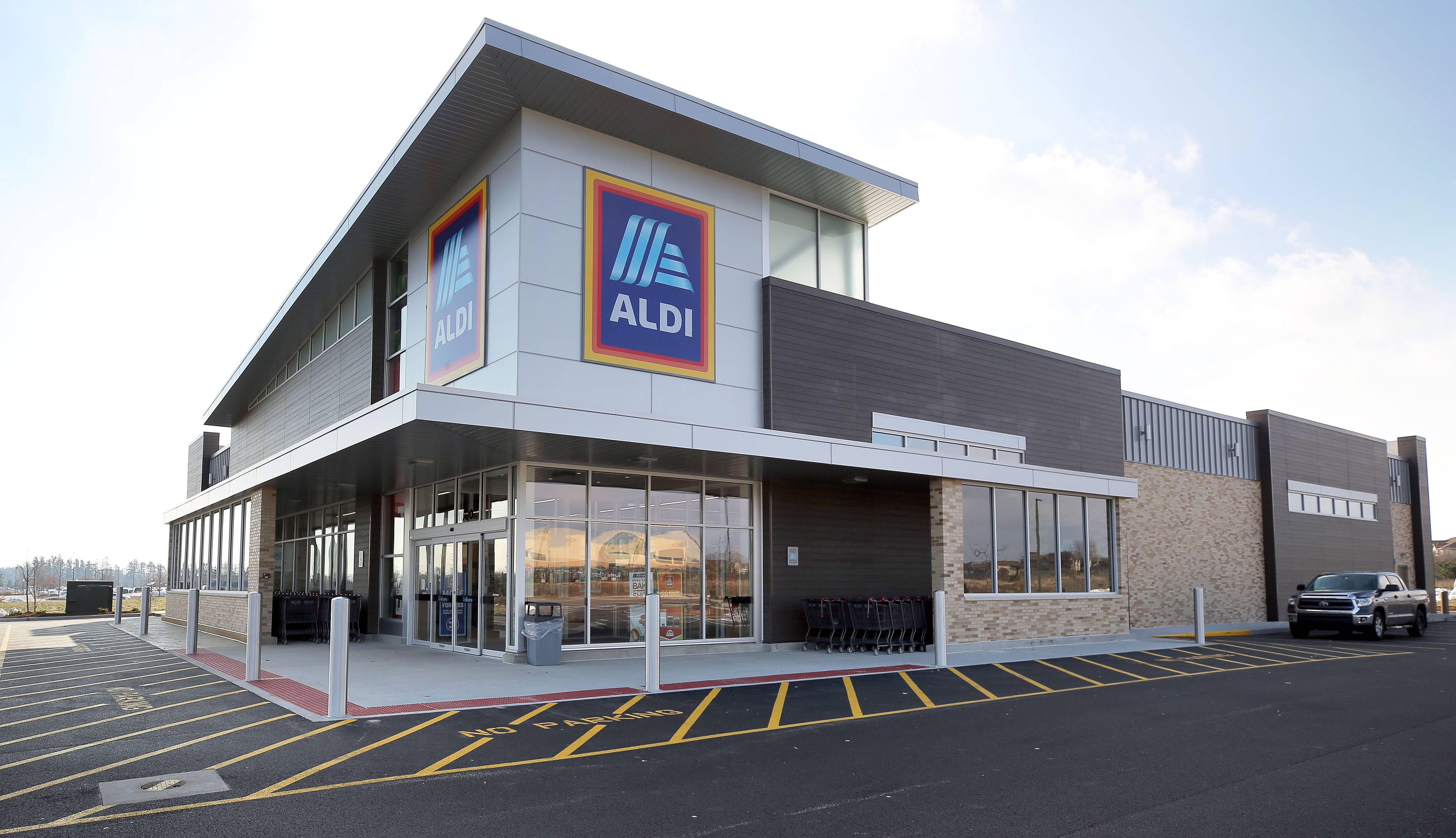 Aldi is hosting a grand opening Thursday in Vernon Hills. The new store is part of the company's $3.4 billion national expansion plan.