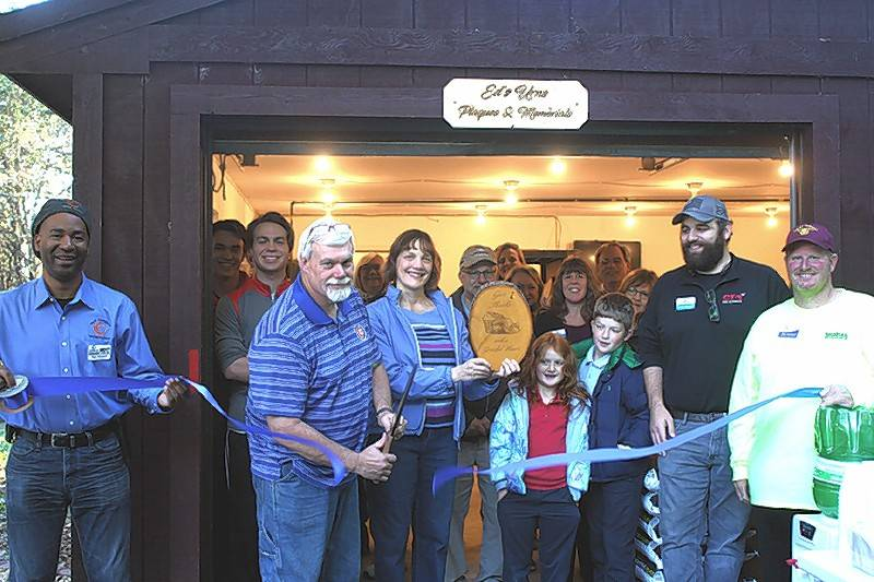 The Oswego Area Chamber of Commerce recently hosted a ribbon cutting for Ed's Urns, Plaques & Memorials, www.edsurns.com. Ed makes custom items in memory of family or pets and to celebrate special occasions in life.