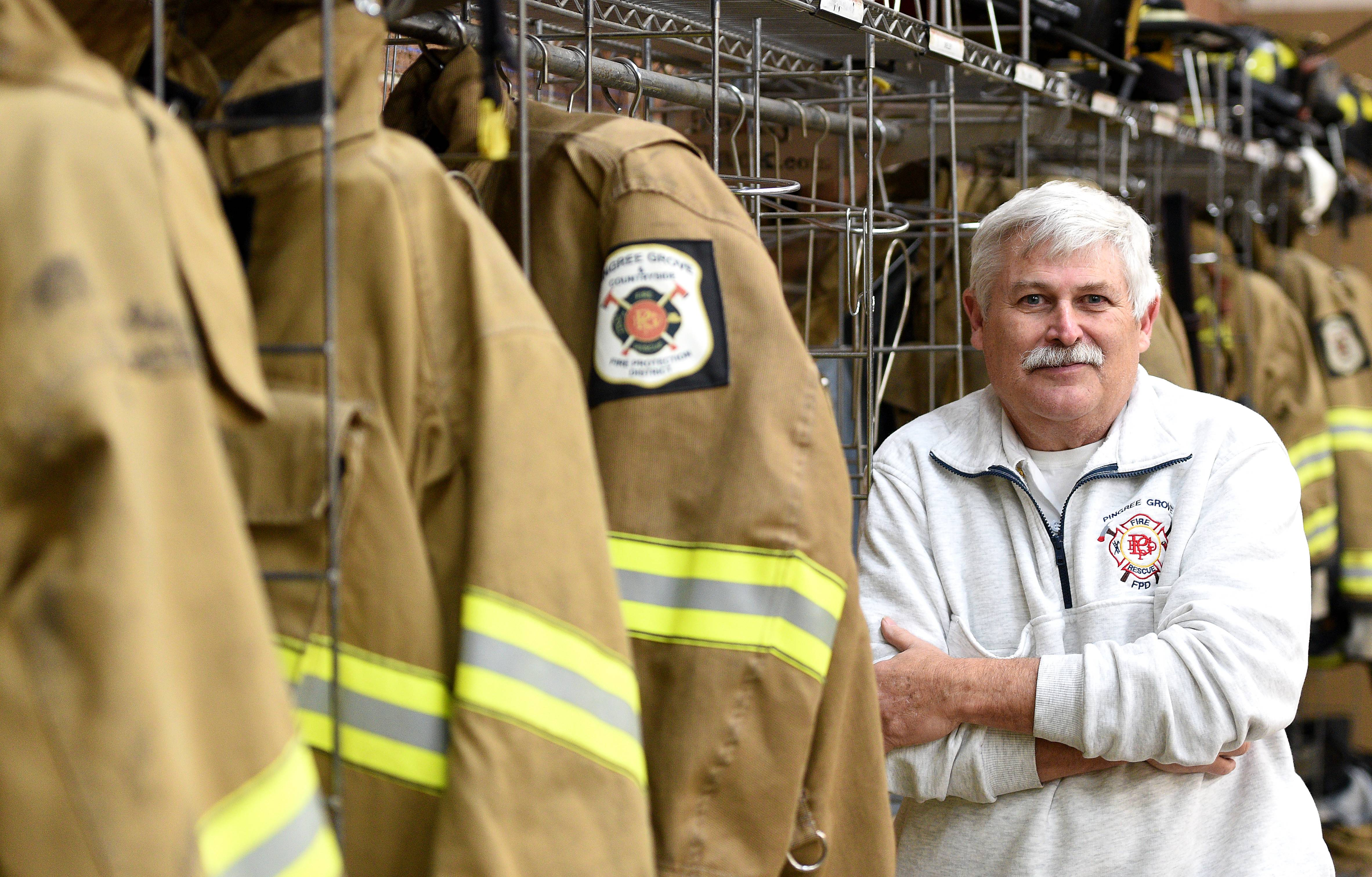 Pingree Grove & Countryside Fire Protection District Chief Mitch Crocetti works full time while getting a pension from his 30-year career with the Wood Dale Fire Department.