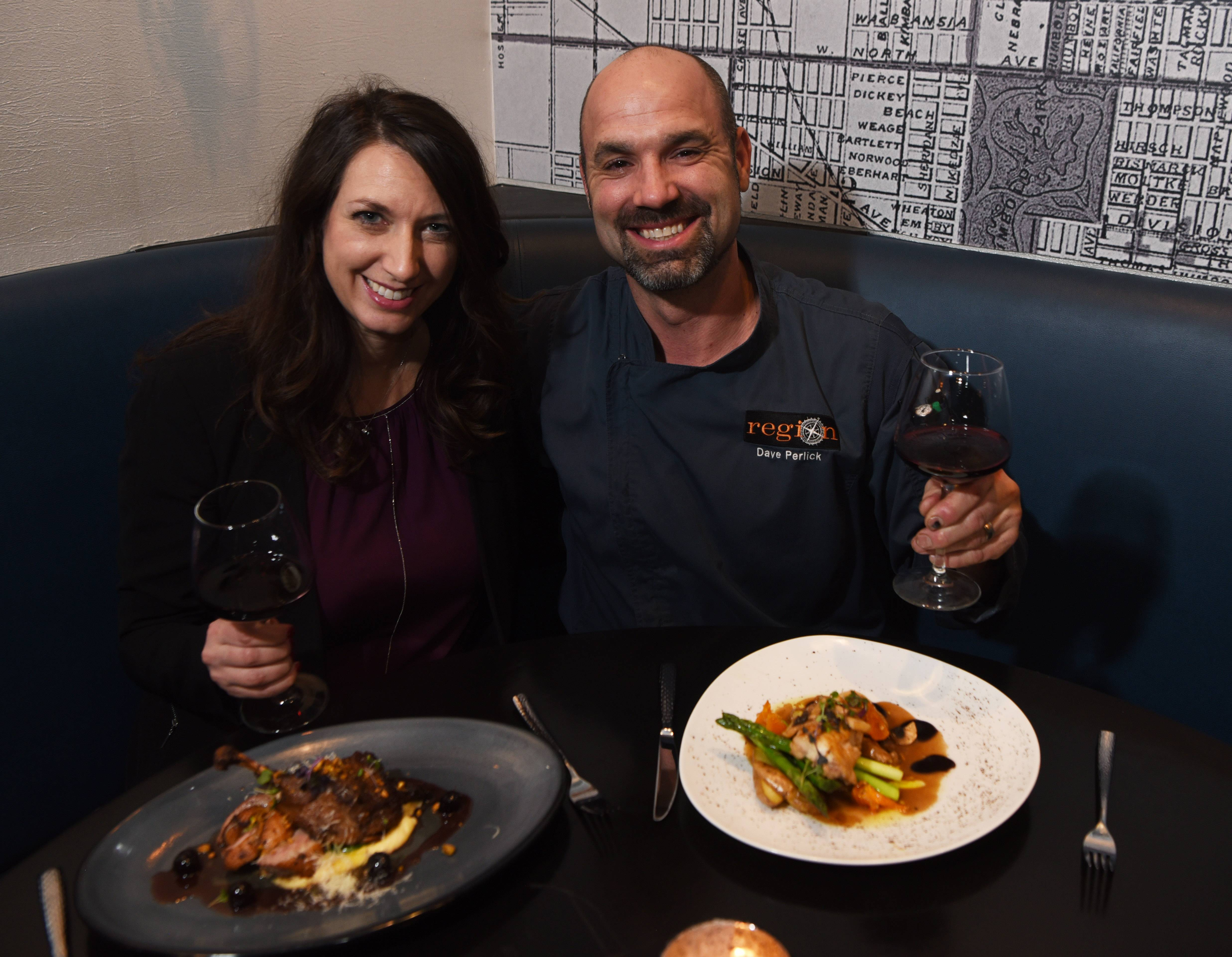Jillian and Dave Perlick recently opened the upscale Region Kitchen and Bar in Barrington.