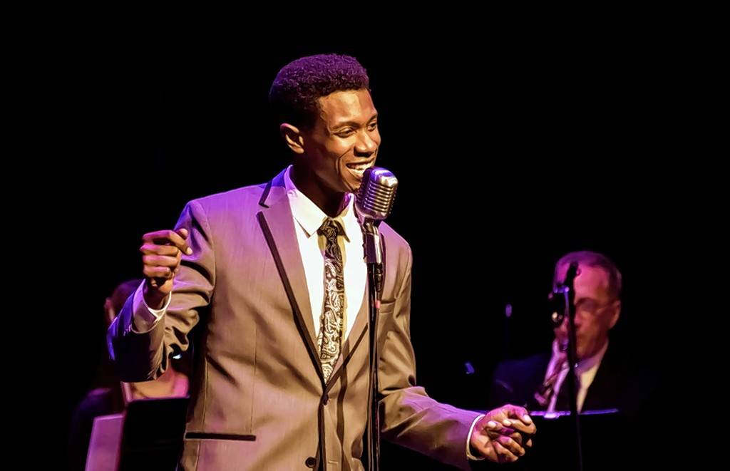 Singer/actor Evan Tyrone Martin channels crooner Nat King Cole as part of the Artists Lounge Live concert series at Marriott Theatre.