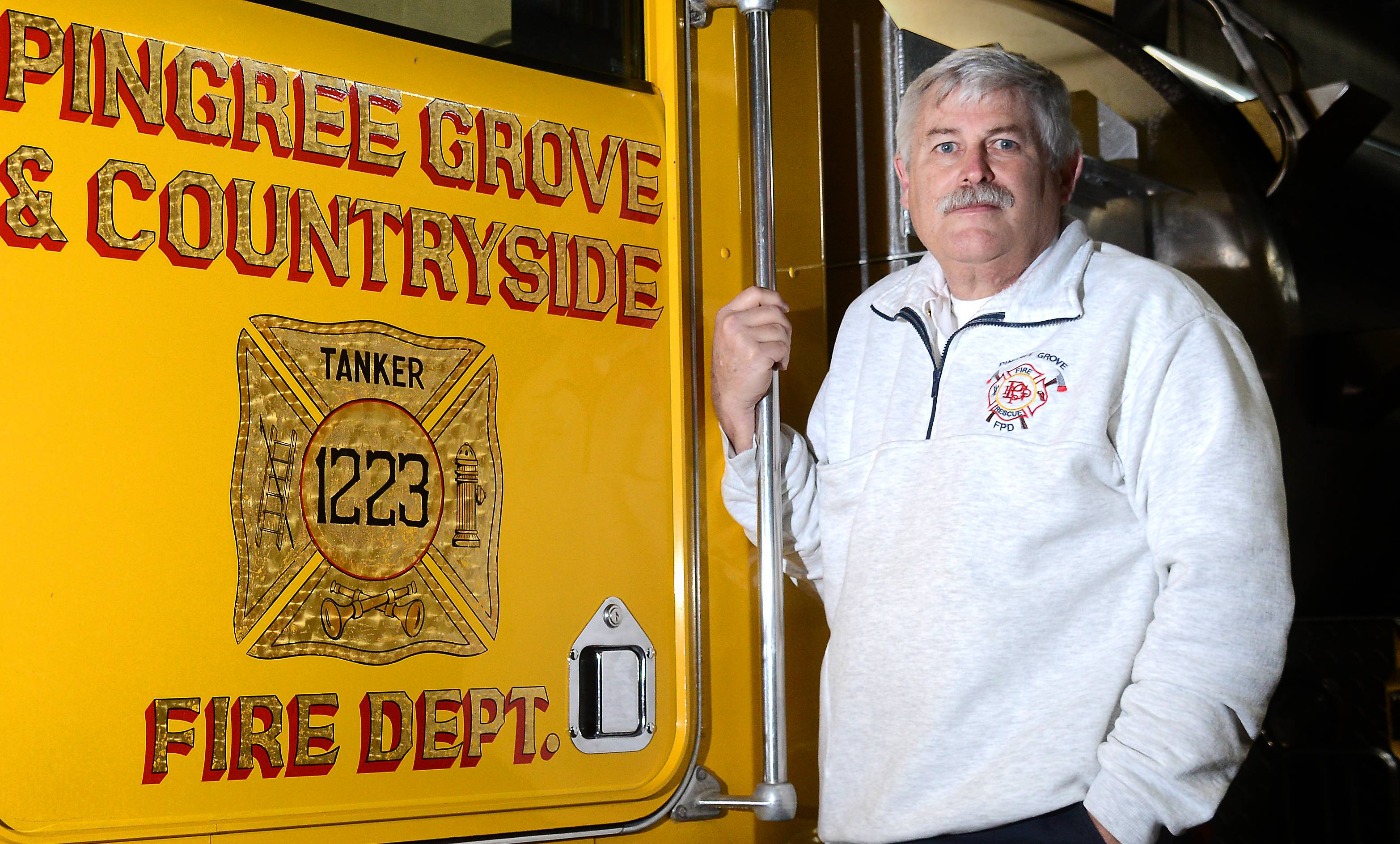 Pingree Grove Fire Chief Mitch Crocetti says he believes smaller departments will have trouble filling leadership positions if older firefighters aren't allowed to participate in multiple pension programs.
