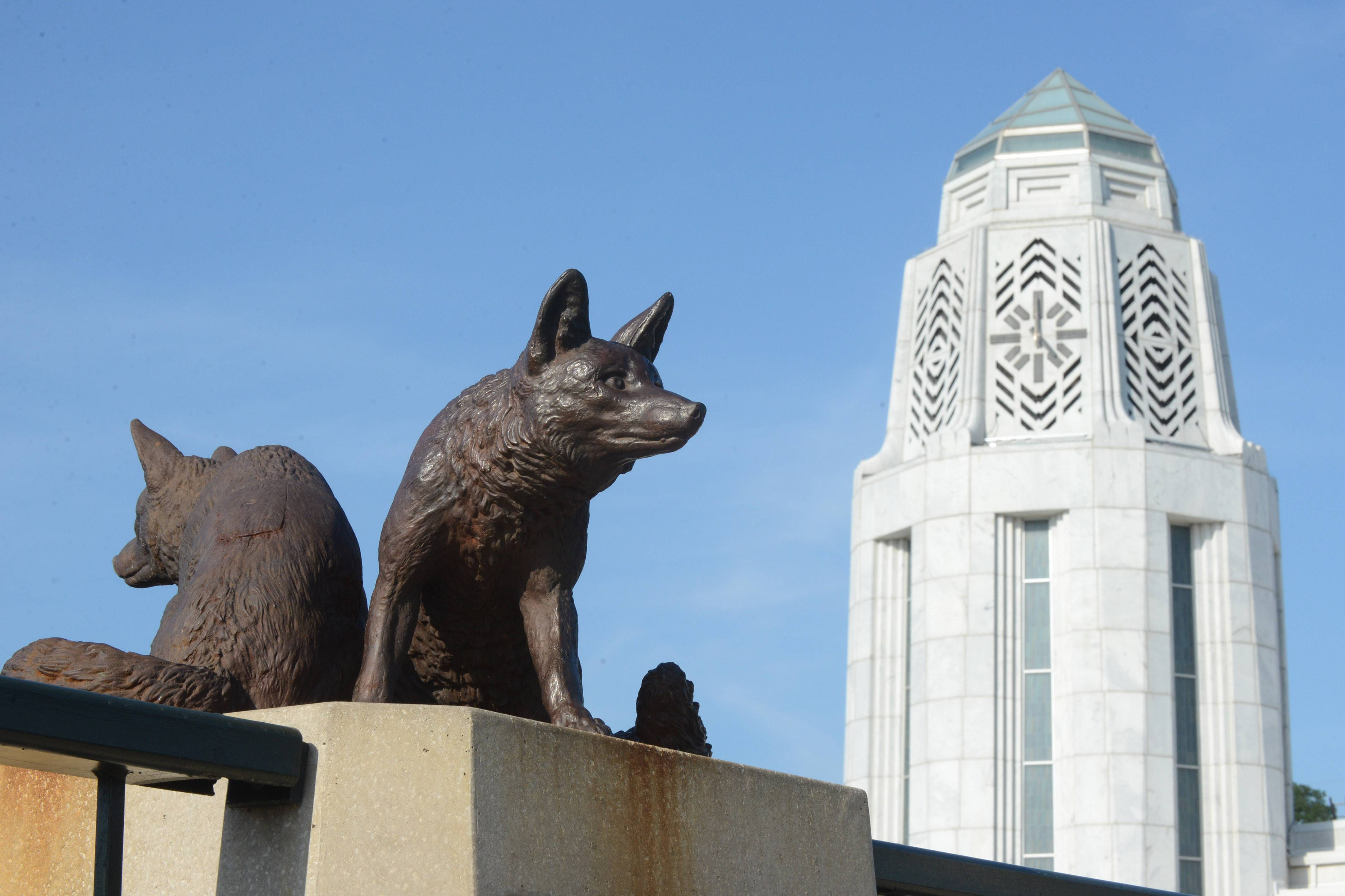 As the St. Charles Charlemagne Award dinner edges toward the century mark, Dave Heun reflects on its history, in which the fox statues on the Main Street bridge play a part.