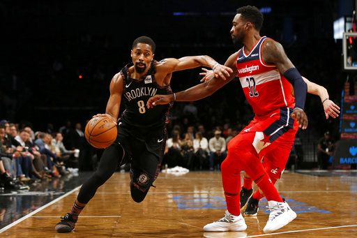 7cbba450e Brooklyn Nets guard Spencer Dinwiddie (8) drives to the basket past  Washington Wizards forward