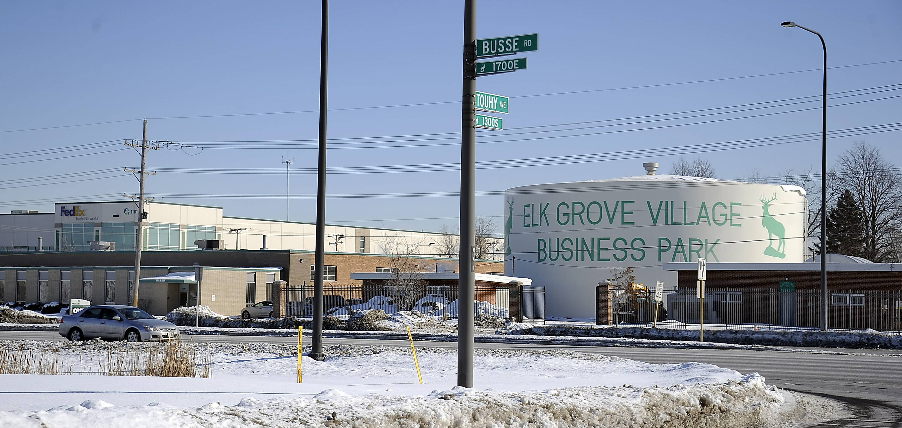"""Makers Wanted,"" the tagline in a promotion to attract businesses to Elk Grove Village, is part of the name of this week's Bahamas Bowl college football game. This is the The Elk Grove Village Business Park area at Busse Road and Touhy Avenue, which could wind up benefiting from the bowl sponsorship."