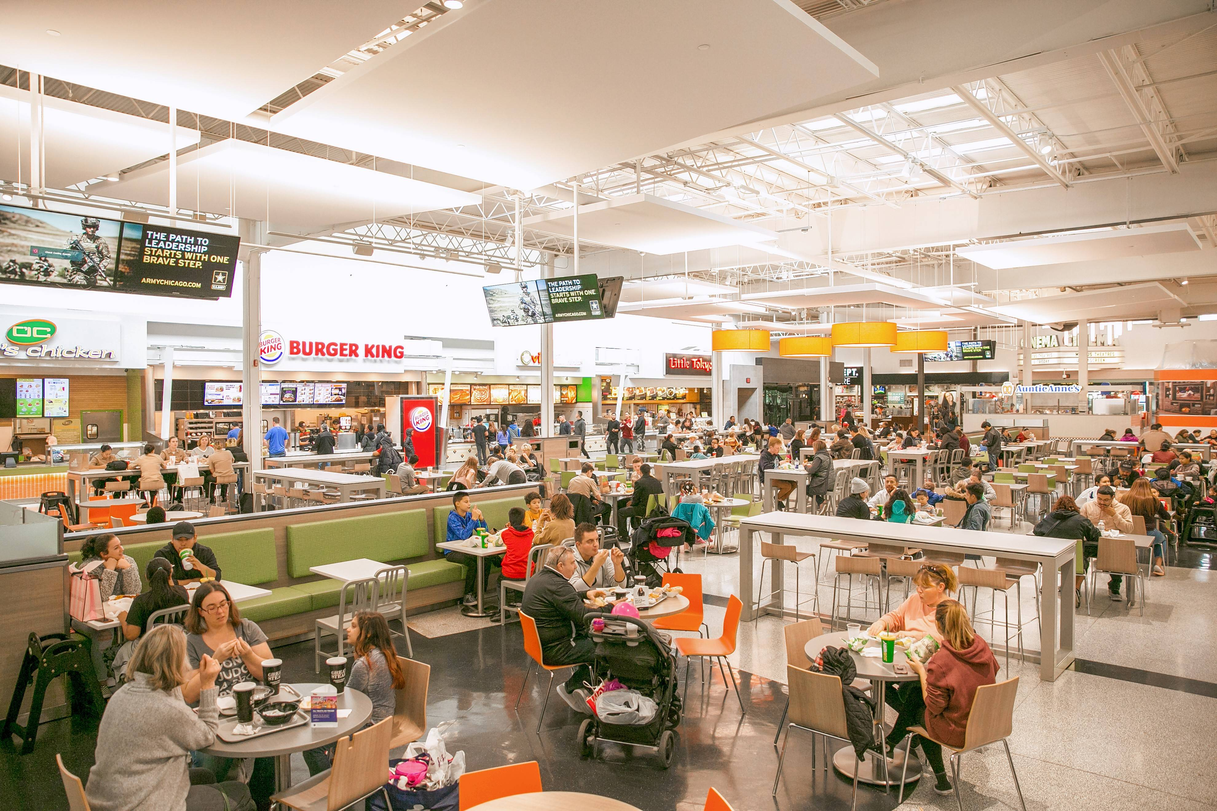 The Dine-O-Rama at Gurnee Mills is one of many areas that received a cosmetic overhaul as part of a nearly completed $6 million renovation project.