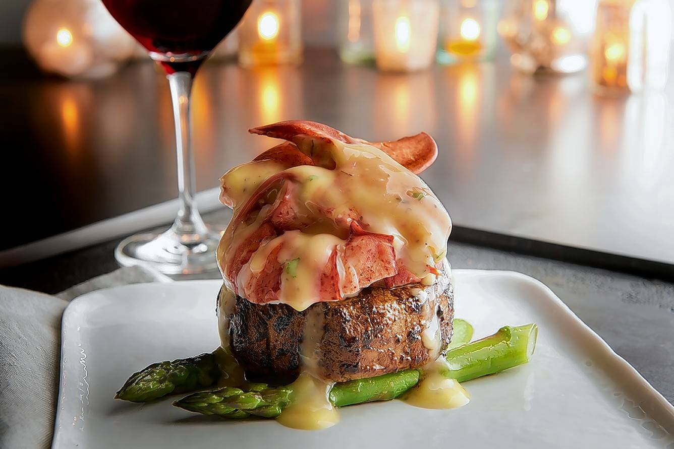 Steak & Lobster Oscar with Bearnaise Sauce is a featured special during the holidays at Morton's The Steakhouse.