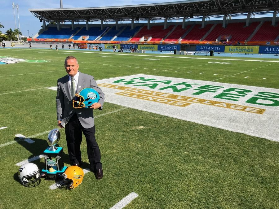 Elk Grove Village Mayor Craig Johnson came up with the idea of sponsoring a college football bowl game to enhance the village's business marketing efforts. That has led to the 2018 Makers Wanted Bahamas Bowl, which is scheduled to be played at 11:30 a.m. today at Thomas A. Robinson National Stadium in Nassau.