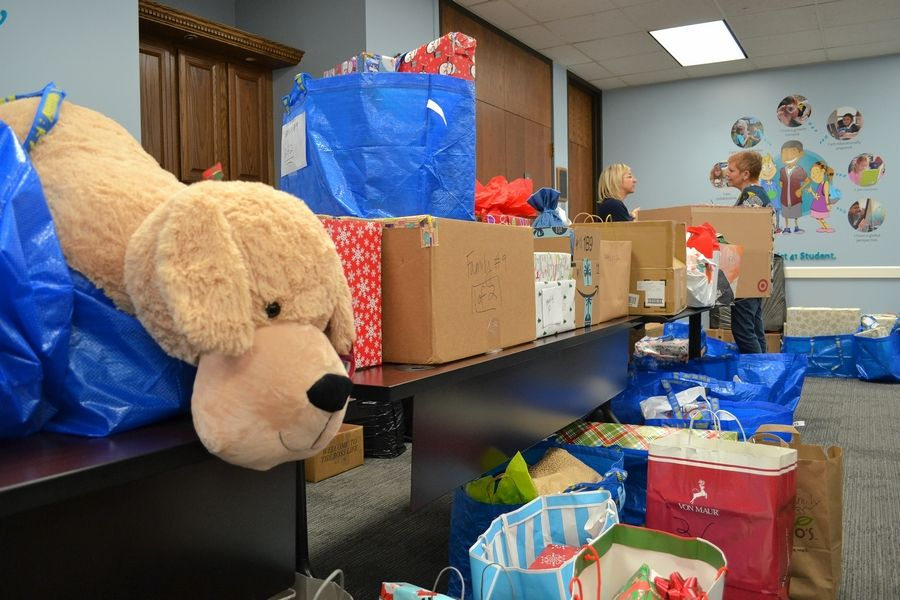 The Holiday Sharing effort filled bags of toys and other presents provided to children throughout District 41's boundaries.