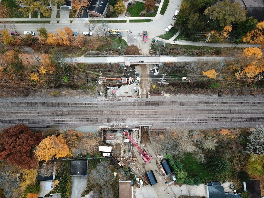 The Taylor Avenue underpass in a Glen Ellyn neighborhood near Glenbard West High School has reopened after a four-month closure to allow crews to install a new, pedestrian-only tunnel alongside it to the east.