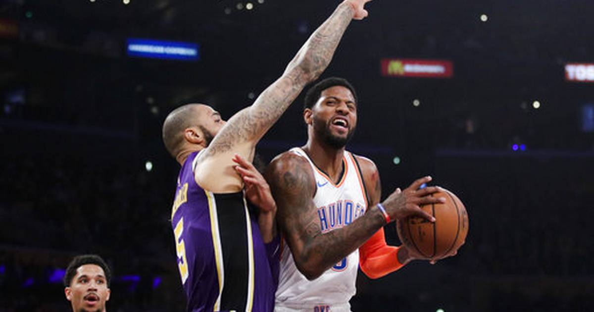 453d7edfd861 Paul George gets 37 amid boos in OKC s 107-100 win at Lakers