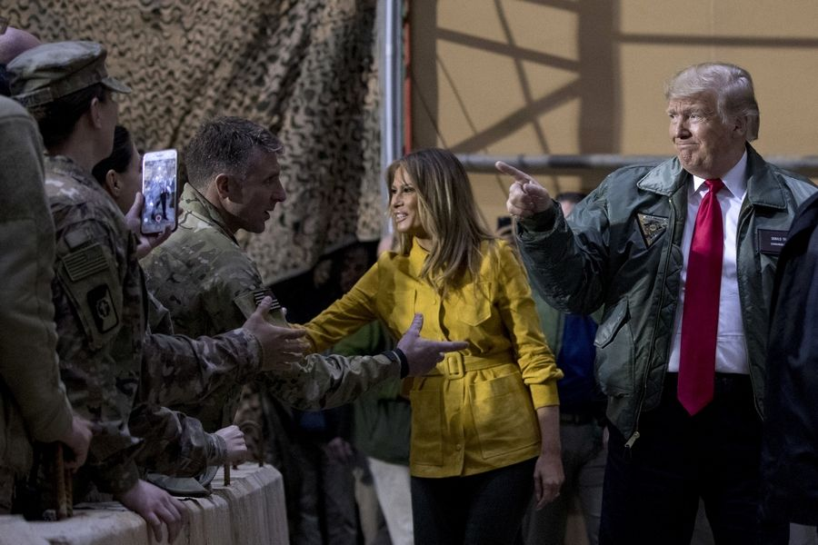 Melania Trump accompanied President Donald Trump to Al Asad Air Base, Iraq, on Dec. 26, but she's not the first first lady to visit a war zone as claimed on social media.