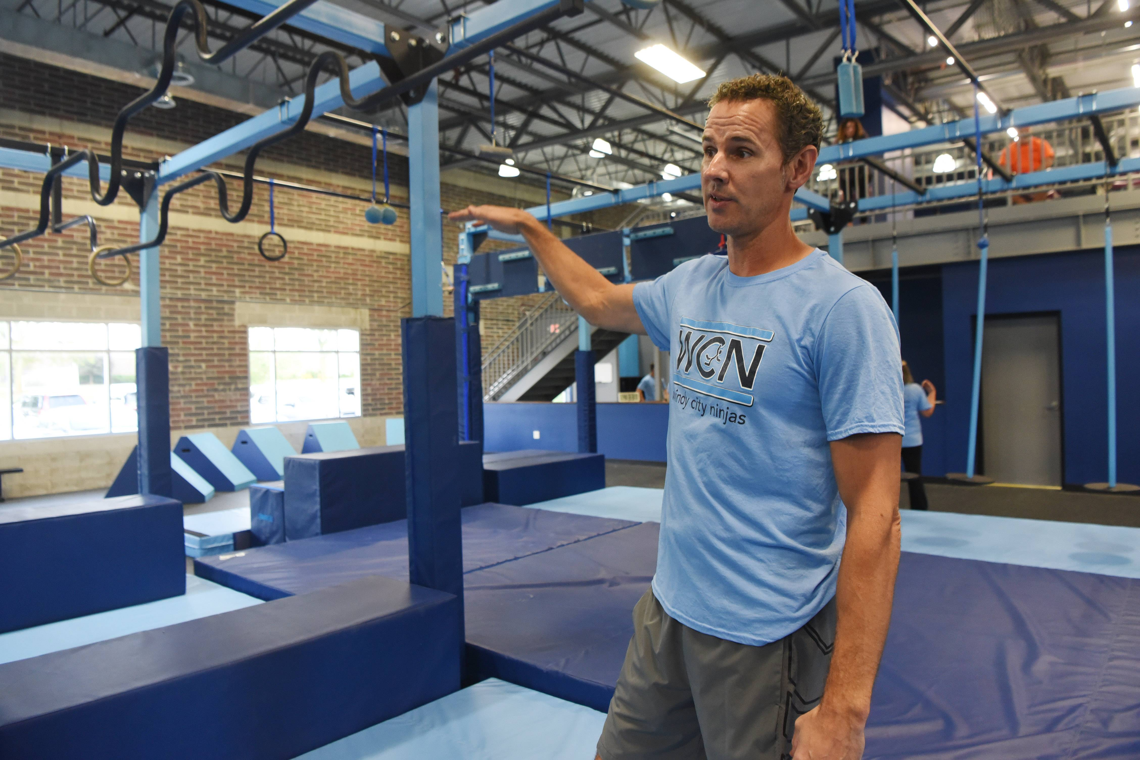 "Owner Tom Rhomberg says Windy City Ninjas is all about helping kids ""overcome, persevere and achieve."""