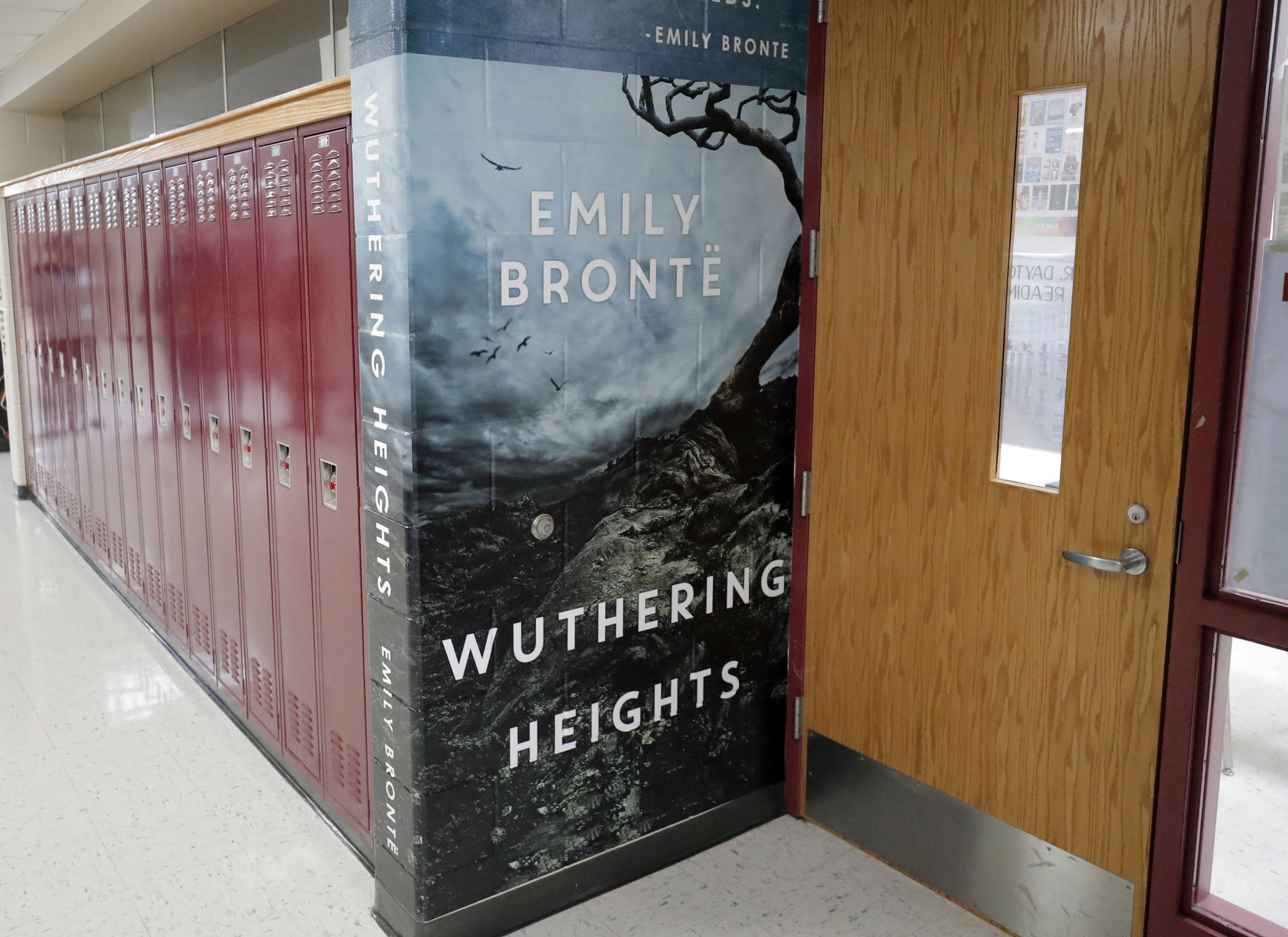 """Wuthering Heights"" is one of the book murals adorning the hallway of the English department at Mundelein High School. ""This project is a great way to motivate students to read more and to begin conversations about their reading, even in the hallways,"" Mundelein High spokesman Ron Girard said."