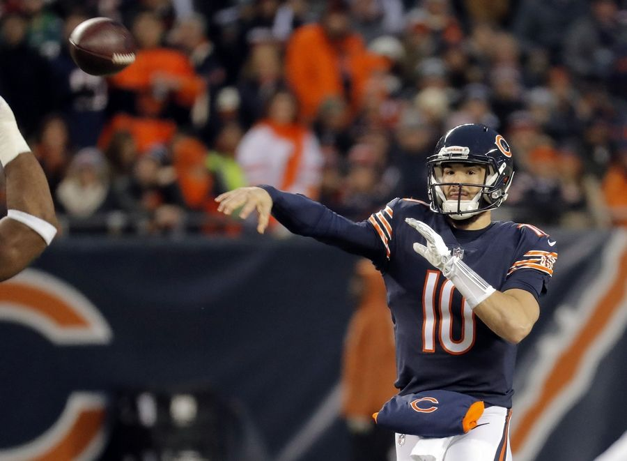 9c1077454fe Chicago Bears quarterback Mitchell Trubisky passes during the NFC wild card  game Sunday, January 6