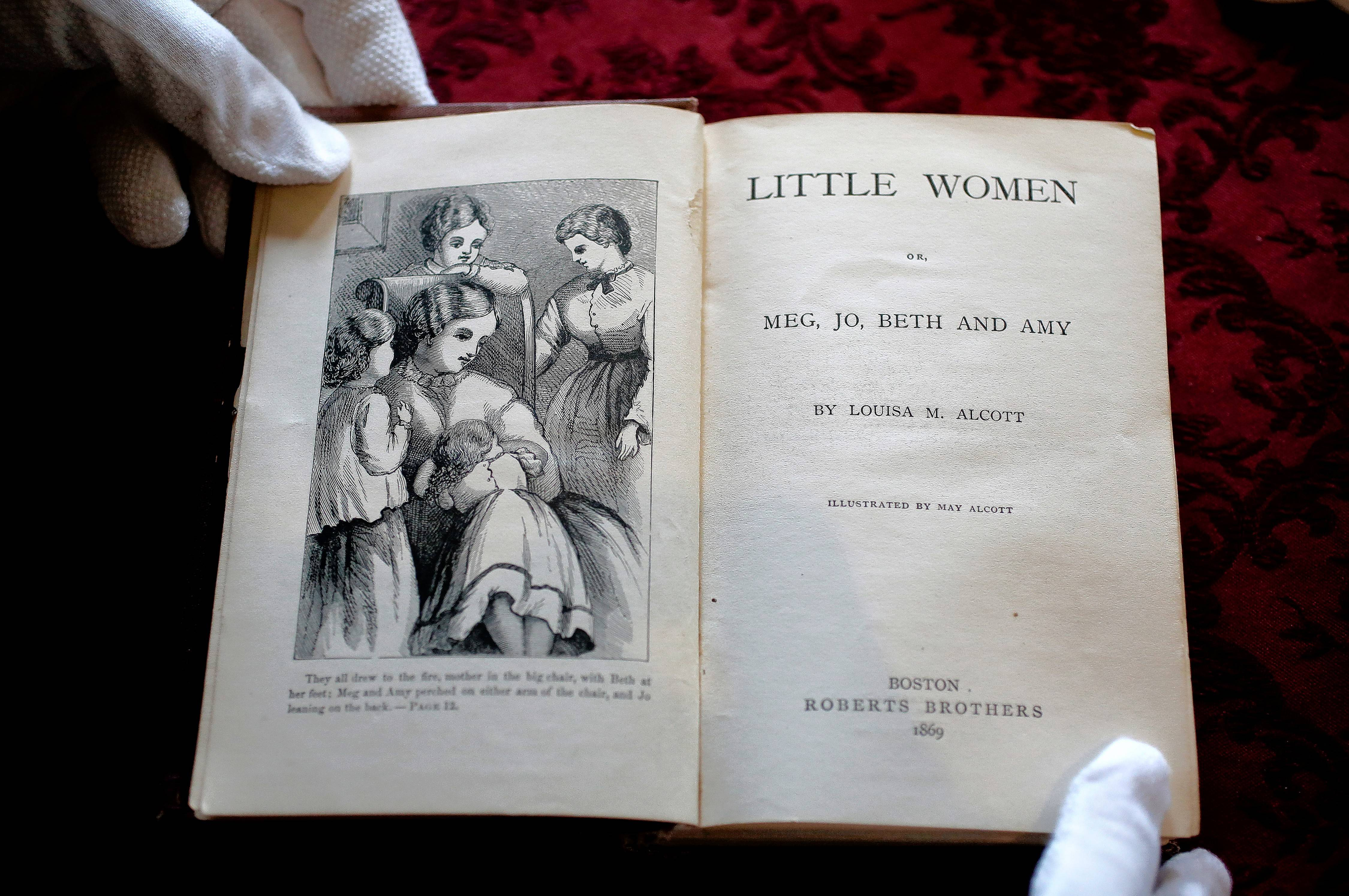 "Louisa May Alcott's ""Little Women,"" seen here in an 1869 edition, was first published more than 150 years ago. Stars of a current musical version in Chicago say the themes remain timely."