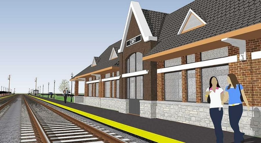 The architecture of the new Metra station will complement Cary's historic downtown and be sustainable where feasible.