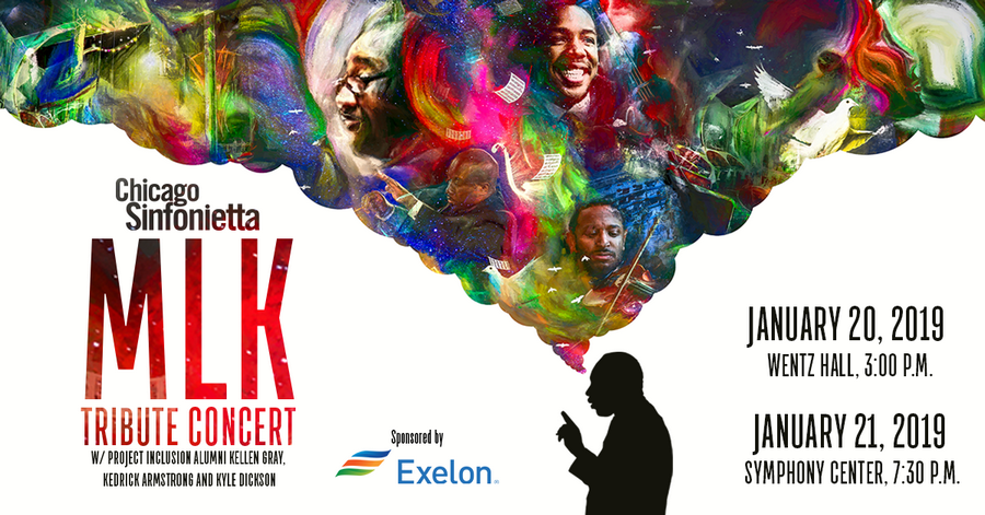 Chicago Sinfonietta's annual MLK Tribute concert program will take place at 3 p.m. on Sunday, January 20 at Wentz Concert Hall in Naperville and at 7:30 p.m. on Monday, January 21 at Symphony Center in Chicago.Courtesy of Chicago Sinfonietta