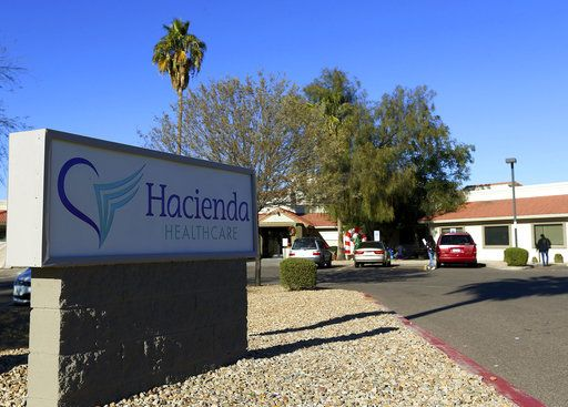 This Friday, Jan. 4, 2019, photo shows Hacienda HealthCare in Phoenix. The revelation that a Phoenix woman in a vegetative state recently gave birth has prompted Hacienda HealthCare CEO Bill Timmons to resign, putting a spotlight on the safety of long-term care settings for patients who are severely disabled or incapacitated.