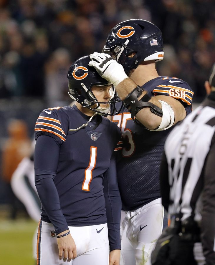 "What do you think Kyle Long said to Cody Parkey last week after the Bears lost? ""Shake it off, Cody. Let's go watch 'Major League.'"" (No, probably not.)"