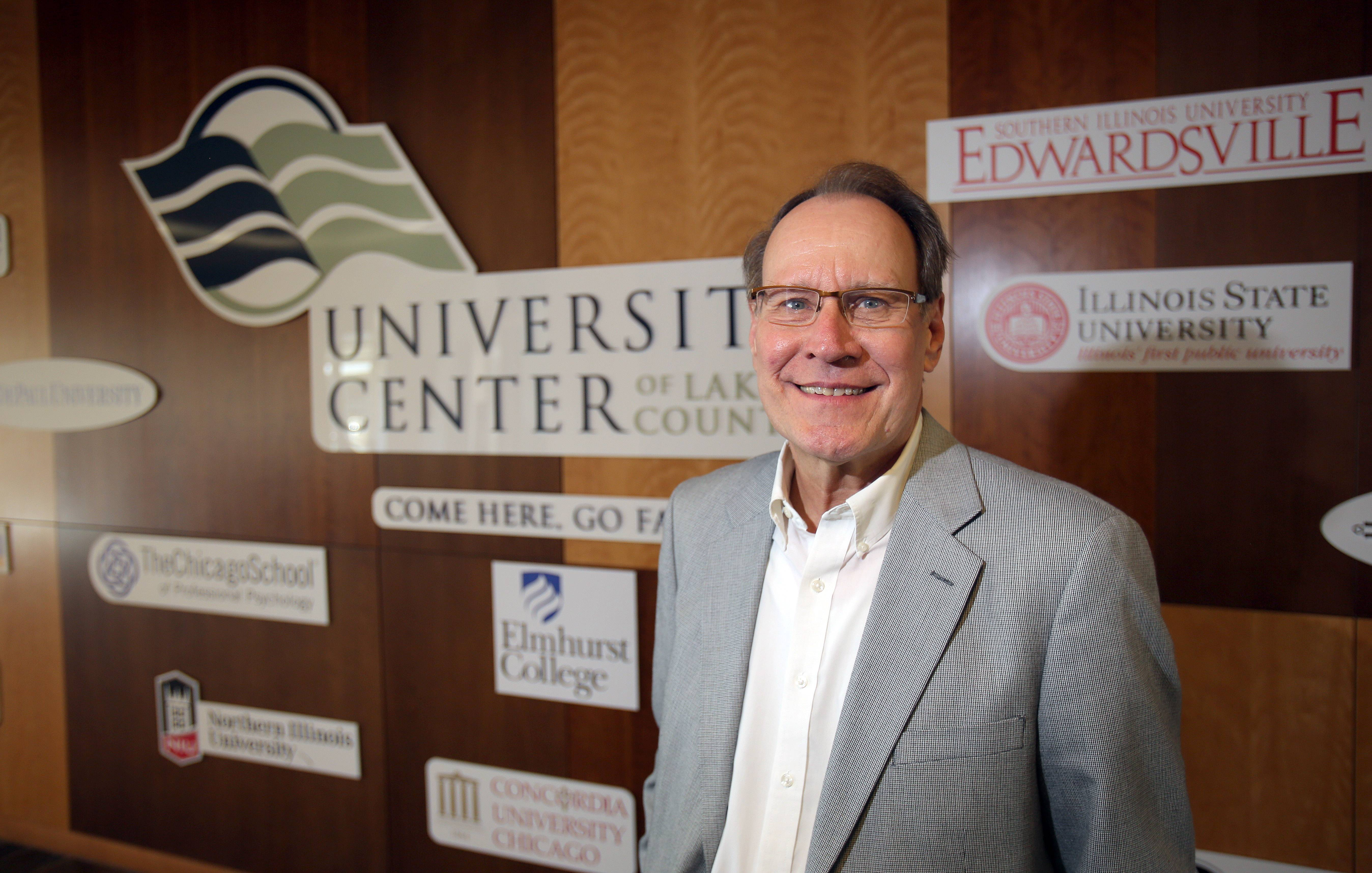 Gary Grace is the executive director and dean of The University Center of Lake County in Grayslake. He's retiring in April.