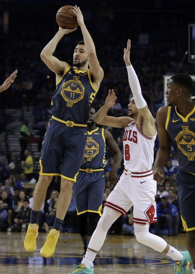 The first order of business for the Bulls on Friday was to avoid a repeat of the first time they played the Golden State Warriors. They failed that test. Klay Thompson knocked down 3-pointers on his team's first three offensive possessions and the Bulls fell behind 14-2 less than 2:30 into the contest. The Warriors never let up and eventually won 146-109 at Oracle Arena, handing the Bulls their sixth straight loss.